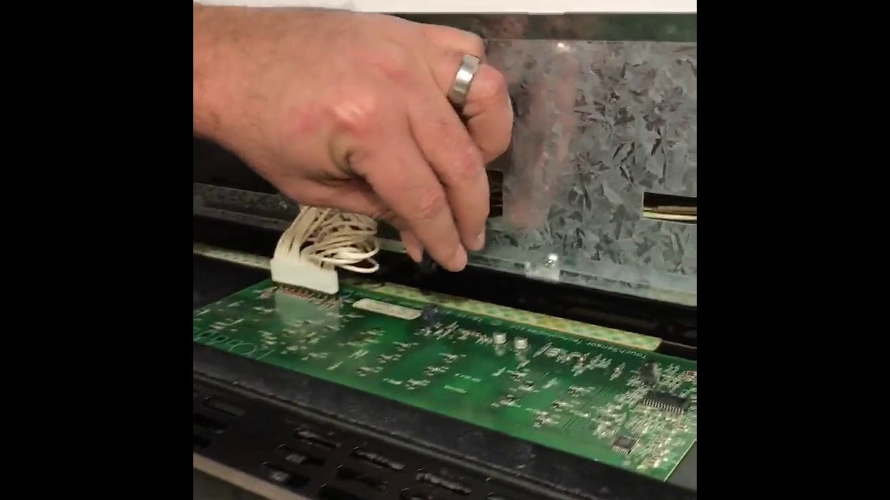 How To Repair Control Panel On A Thermador Double Oven Youtube