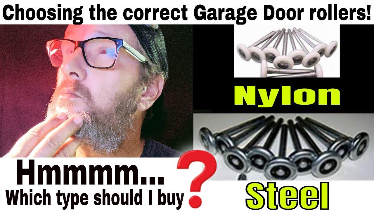 Garage Door Rollers: Nylon or Steel? - YouTube
