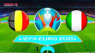 Belgium vs Italy UEFA EURO 2020 Full Match HD PES 2021 Gameplay PC