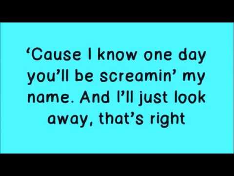 Glee - Loser Like Me [Lyrics On Screen]