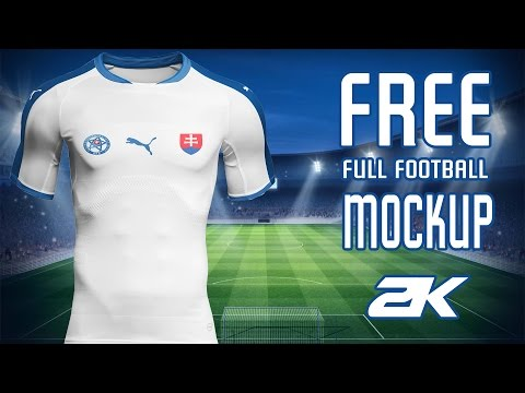 FREE full football kit MOCKUP// Tutorial - Slovakia kit