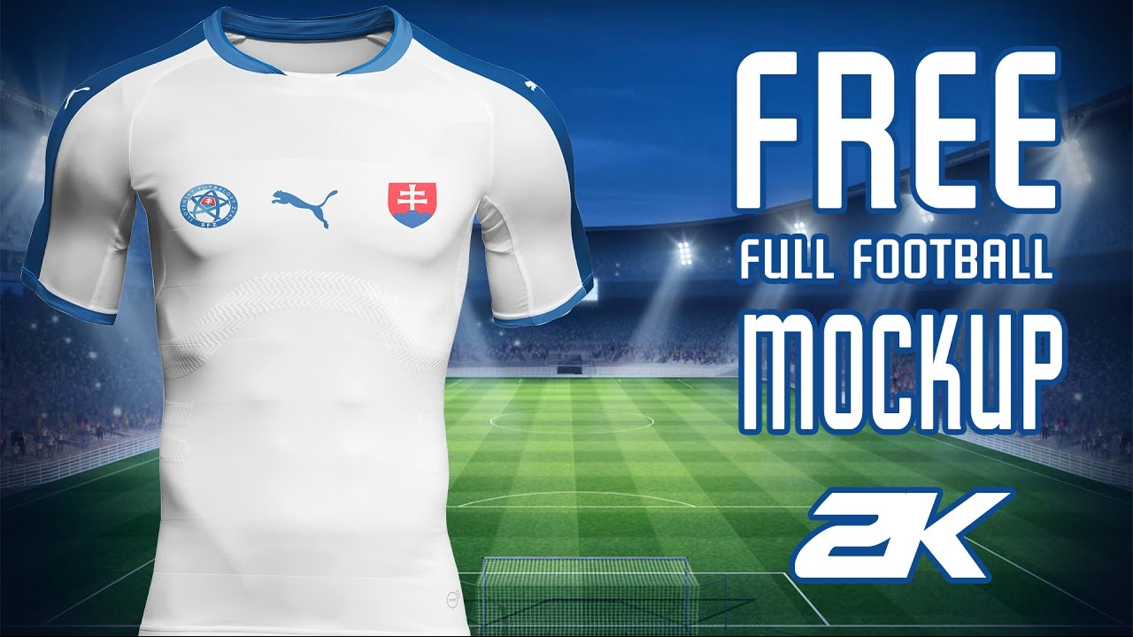 Free Full Football Kit Mockup Tutorial Slovakia Kit