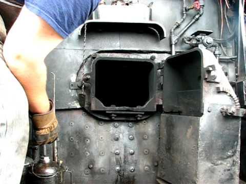 lighting  fire   oil burning steam locomotive youtube