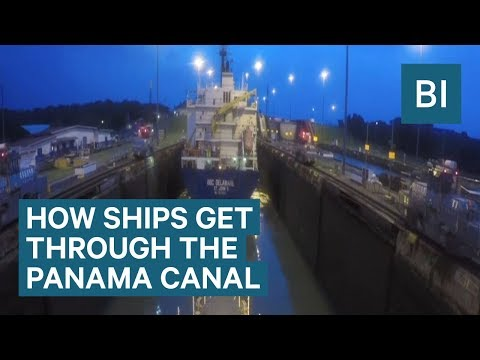 This Amazing Time-lapse Shows How Ships Get Through the Panama Canal