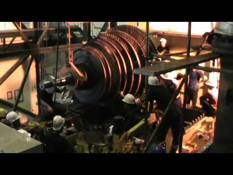 Assembly rotor turbine of Lahendong Geothermal Power plant ( ALSTOM )