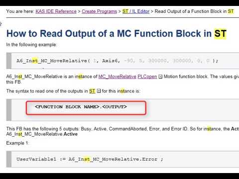 ST (Structured Text) Editor - Part 2 - KAS Online Learning Collection  Volume 22