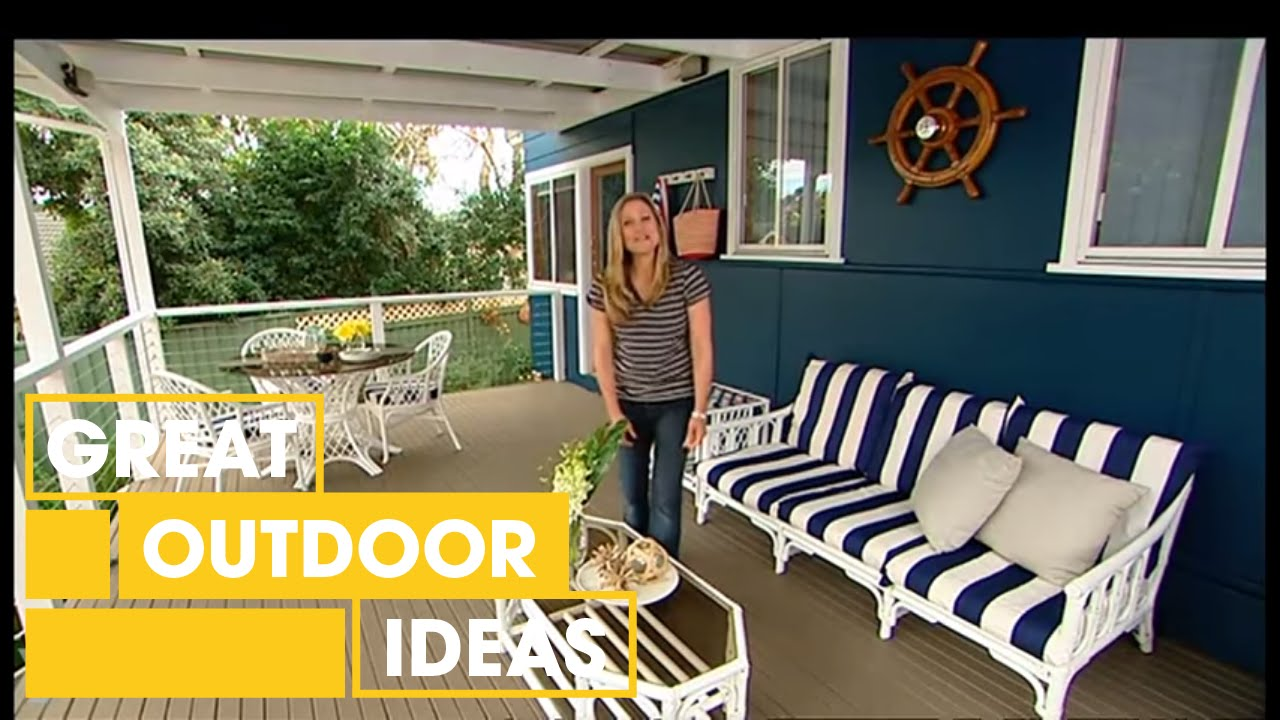 how to design a nautical outdoor room | outdoor | great home ideas