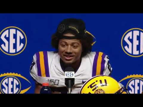 Ed Orgeron, Joe Burrow, Derek Stingley Jr. press conference after beating Georgia in SEC title game