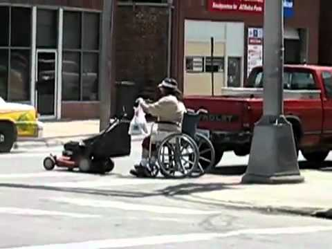 Redneck motorized Wheelchair  YouTube