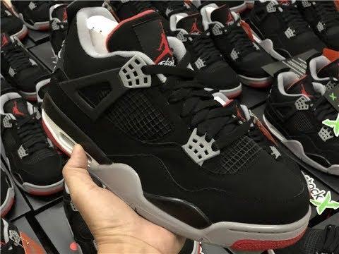 """Fake Air Jordan 4 Black Red """"Bred"""