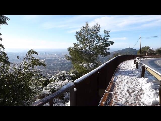 El Tibidabo nevat Barcelona - Febrer 2018