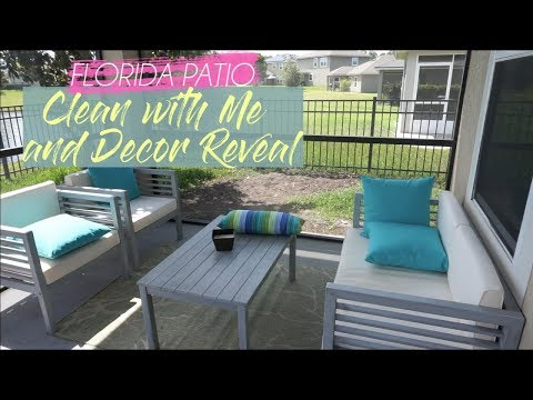 CLEAN WITH ME//PATIO CLEANING AND NEW FURNITURE REVEAL/Heather McCarthy