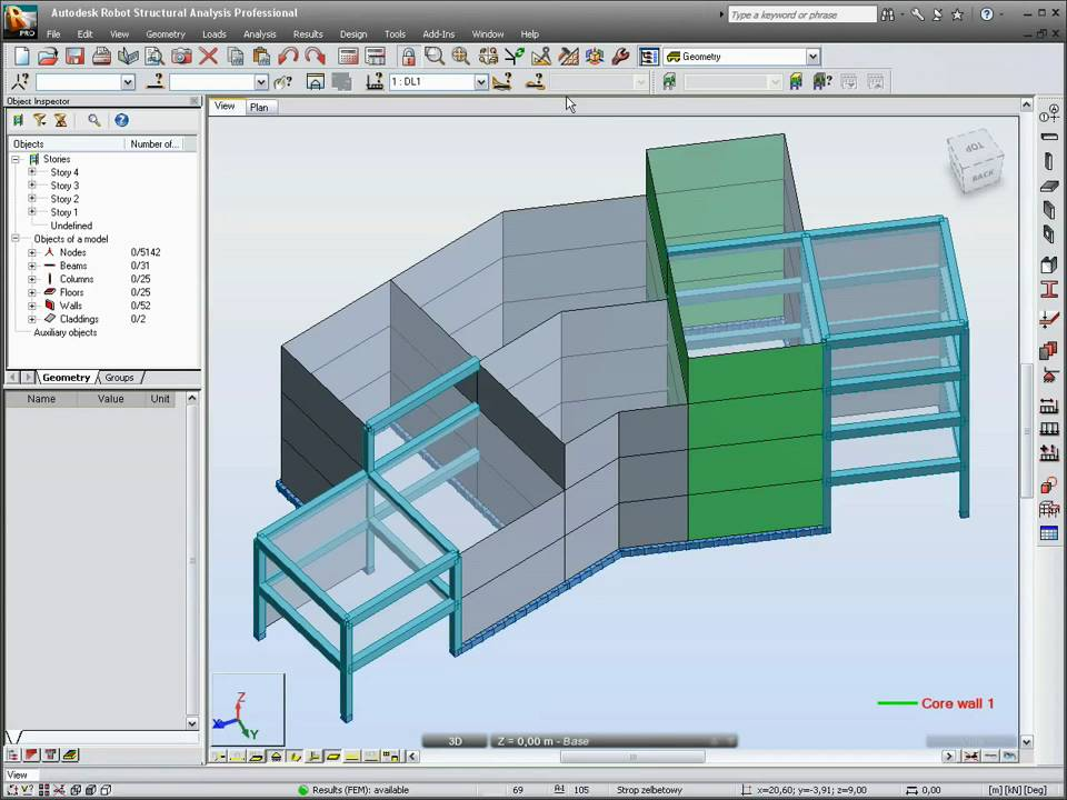 Robot Structure Analysis 2011 Building Design Youtube