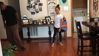 Daddy daughter git up challenge