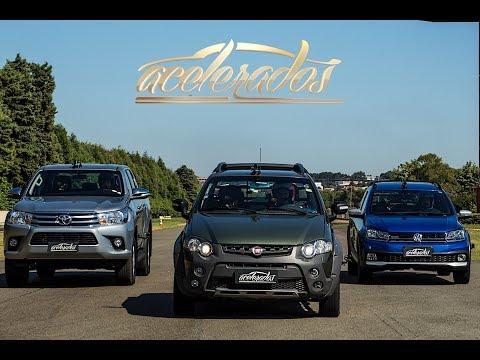 FIAT STRADA x VW SAVEIRO x TOYOTA HILUX + CHEVROLET S10 | ACELERADOS | VOLTA RÁPIDA #108