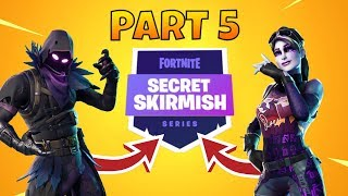 Fortnite *SECRET SKIRMISH* Part 5! FaZe Jaomock, Ghost Snood and More!