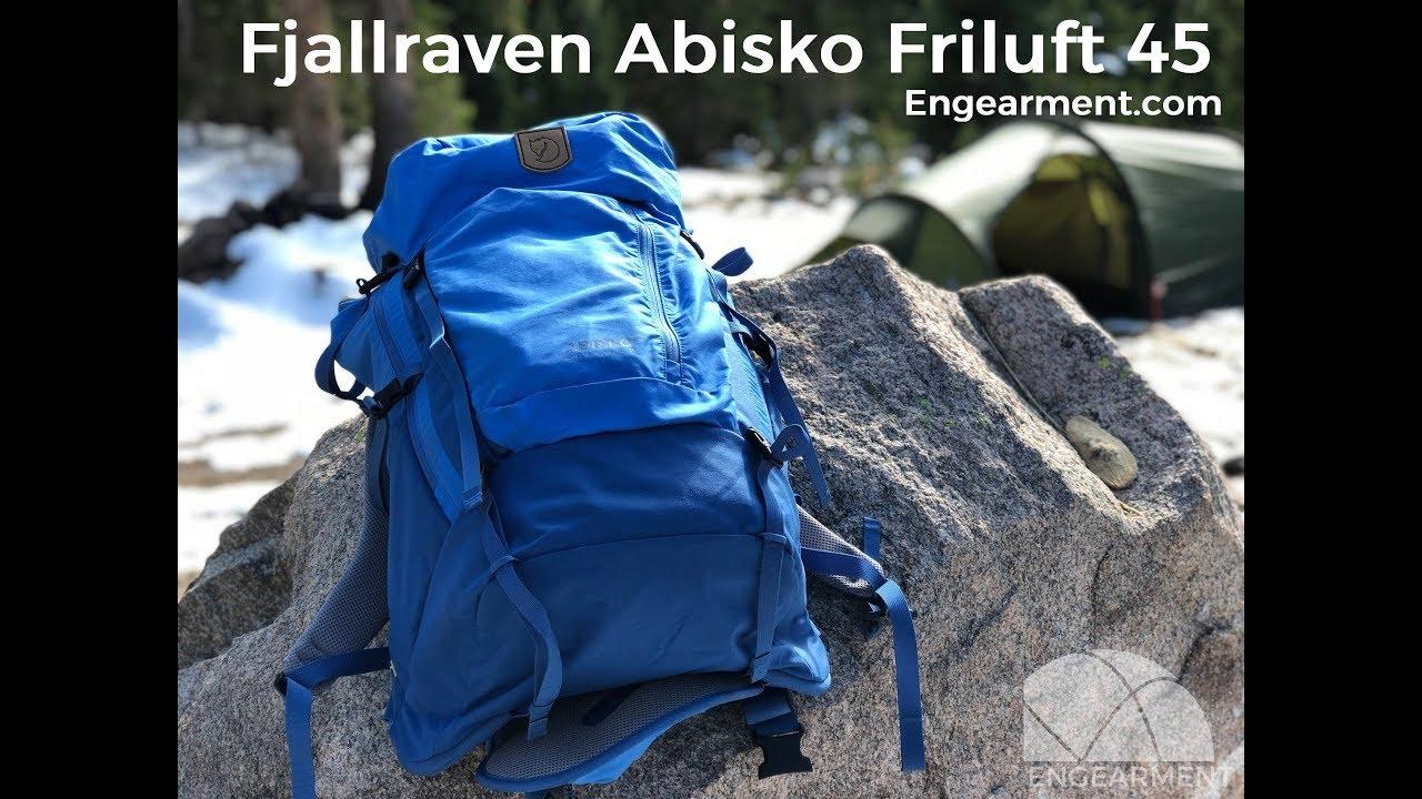 Sportschuhe autorisierte Website Shop für echte Fjallraven Abisko Friluft 45 Backpack Review