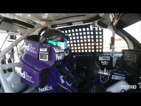 2016 NSCS Sonoma - #11 Denny Hamlin In Car Cam - Nice Helmet!