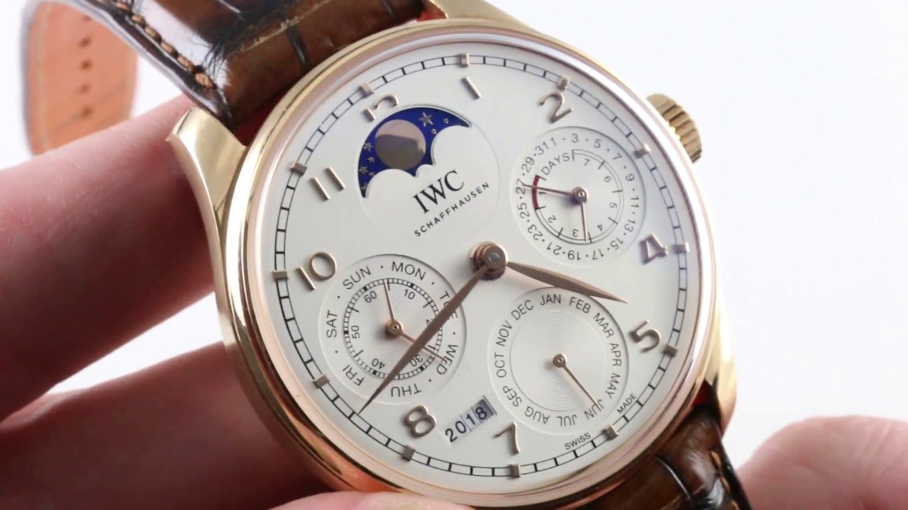 0ee7cf5db54 IWC Portugieser Perpetual Calendar IW5033-02 Luxury Watch Review ...