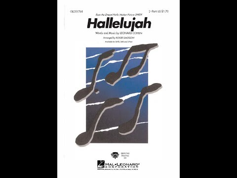 Hallelujah 2Part  Arranged  Roger Emerson
