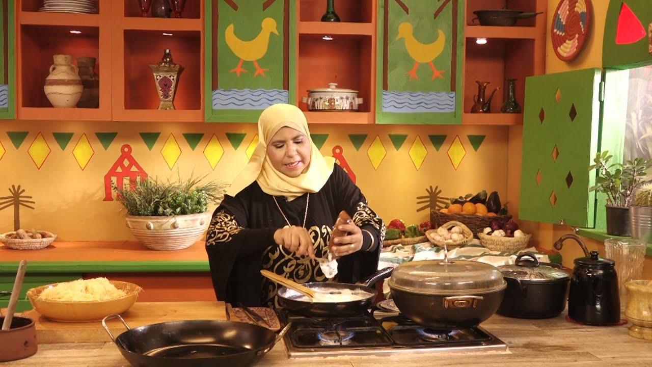 روايح من بلدنا - اطباق مائدة الرحمن فتة لحم + كنافة + كركدية، سلطة - الجزء الثانى
