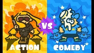 Splatoon 2 - Global Splatfest Announcement - Action VS Comedy