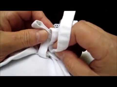 How to tie the straps on your karate-gi / samu-e