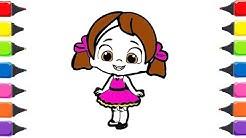 Niloya çizgi Film Karakteri Ile Meyveler Boyama Oyunu Meyveleri
