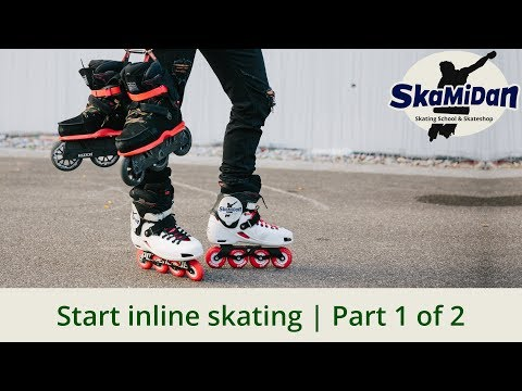 How To Start Inline Skating #1/2 — First Steps — How To Start Rollerblading — Inline Basics #01/1