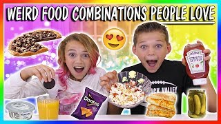 WEIRD FOOD COMBINATIONS PEOPLE LOVE | We Are The Davises