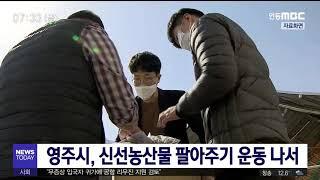 영주시, 신선농산물 팔아주기 운동 / 안동MBC