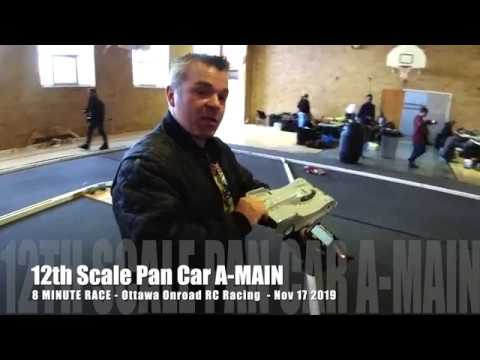 1/12 Pan Car RC Racing A-MAIN Race - 100% RC TRACK VIEW - Osmo Action 4K60 - Netcruzer RC