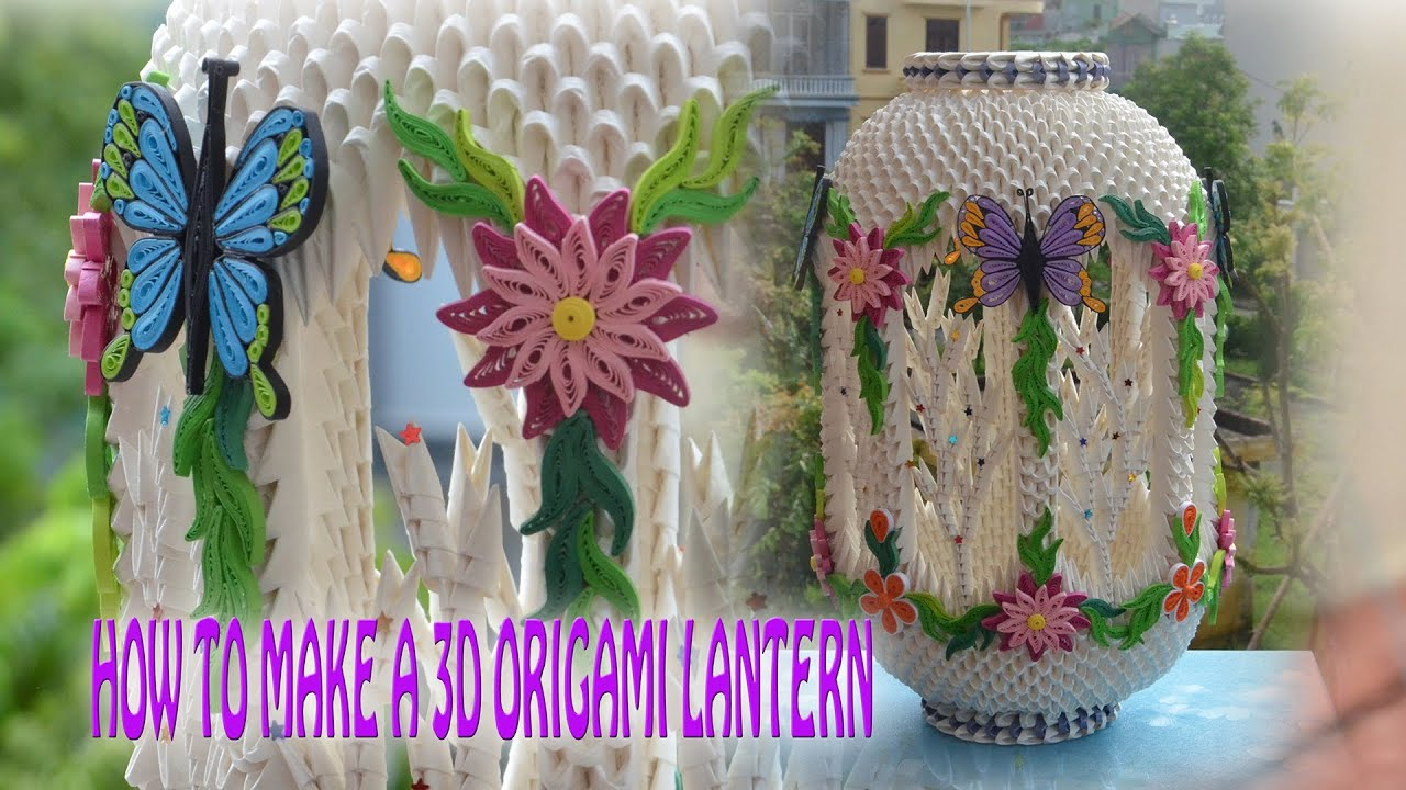 How to make a 3d origami lantern diy paper lantern tutorial how to make a 3d origami lantern diy paper lantern tutorial paper lamp tran nga 3d origami youtube floridaeventfo Image collections