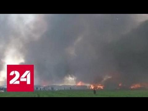 В Италии загорелся лагерь беженцев, основная версия — умышленный поджог