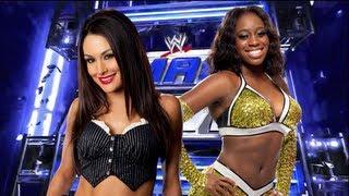 WWE Smackdown - Brie Bella vs Naomi (AJ, Layla, Alicia Fox, Aksana Interference) - FULL MATCH HD