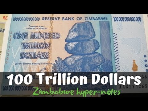100 Trillion Dollar Notes From Zimbabwe