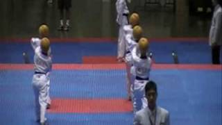 Taekwondo- Korean athletes perfomed created poomsae at 2008 The World Taekwondo