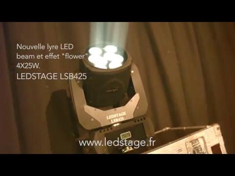 Lyre beam led, flower, matrice 4X25W - disco moving head - Eclairage LED DJ