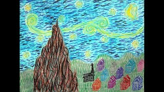 Make Your Own Starry Night - Step by Step Tutorial for Making a Starry Night Crayon Resist