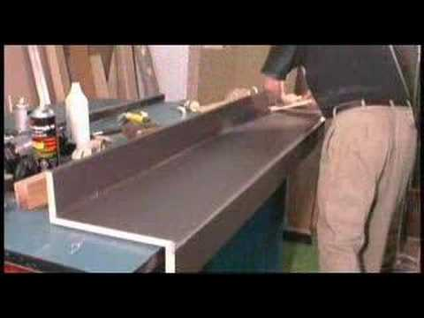 Gluing and Trimming Plastic Laminate Countertop  YouTube