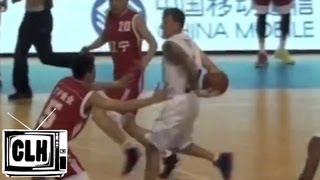 Jason Williams ELBOW PASS in China on USA Legends Tour 2013 - White Chocolate