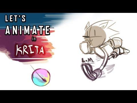 Let's Animate in Krita!   Basic Sonic Running Animation