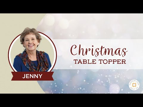 The Easiest Christmas Table Topper Mini Tree Skirt You