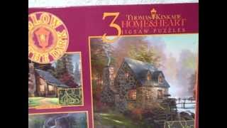 Thomas Kinkade 3 In 1 Glow In The Dark Jigsaw Puzzle New Unopened 021081035613