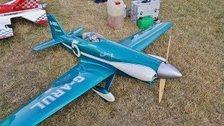 "LeVier ""COSMIC WIND"" DUO RC RACING MONOPLANES AT BMFA NATIONALS FLIGHTLINE - 2018"