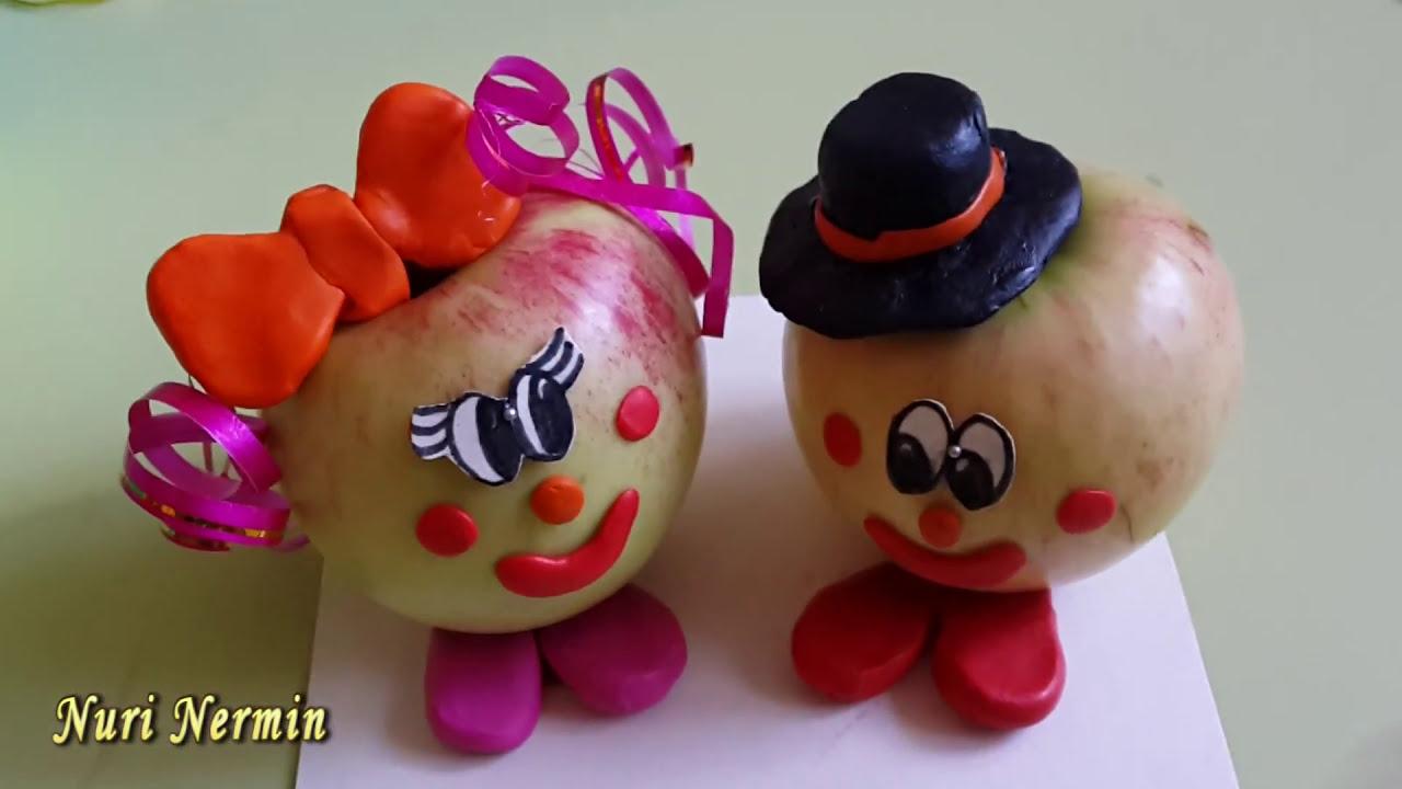 Как сделать гусеницу из яблок фото 631