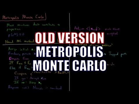 Computational Chemistry 3.11 - Metropolis Monte Carlo (Old Version)