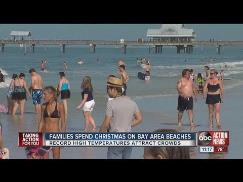Beautiful weather across Tampa Bay for the Christmas holiday
