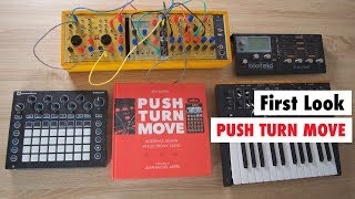 First Look! PUSH TURN MOVE ! The Best Book About Synthesizers, Drum Machines, Software & More!