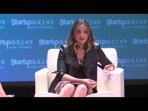 Brit Morin (Brit + Co) and Julia Hartz (Eventbrite) at Startup Grind Global 2016